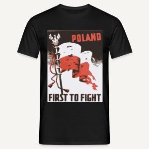 Poland - first to fight (kolorowa) - Koszulka męska