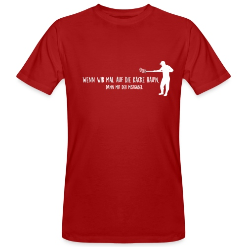 Männer Bio-T-Shirt - Mistgabel - Männer Bio-T-Shirt