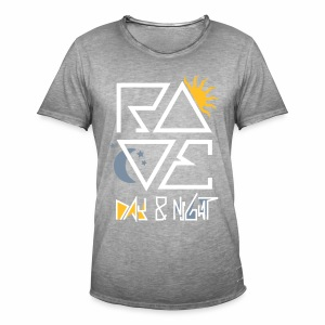 RAVE Day & Night V2 - T-Shirt - Männer Vintage T-Shirt