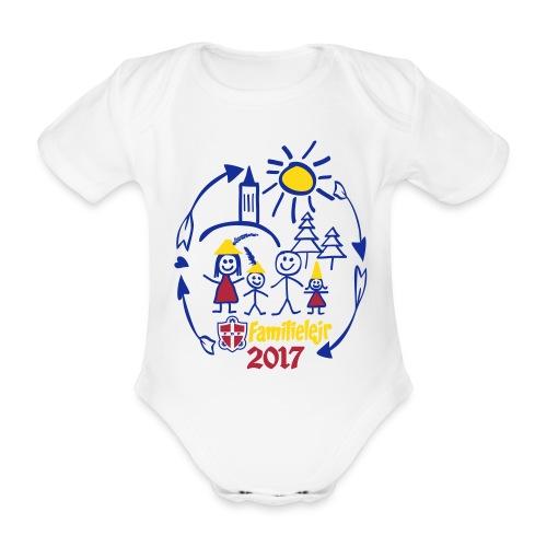 FDF Familielejr 2017 kortærmet body - Kortærmet babybody, økologisk bomuld