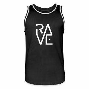 Rave Minimal Text - Männer Basketball-Trikot