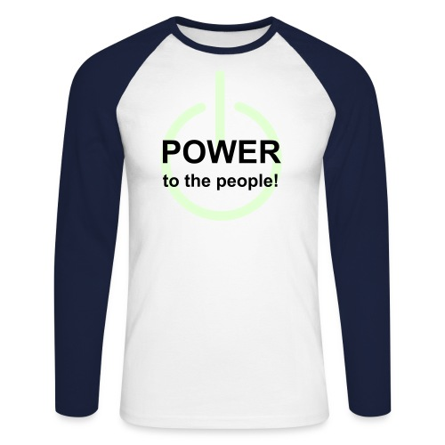 S/C Glo Power - Men's Long Sleeve Baseball T-Shirt