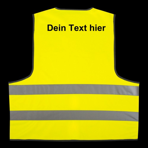 Dein Text Weste - Warnweste