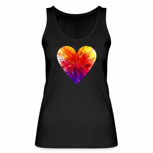 Herz aus Kristallen - Frauen Bio Tank Top von Stanley & Stella