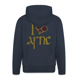 I Love ASNC Men's Hooded Jacket - Men's Premium Hooded Jacket