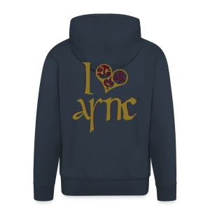 I Love ASNC Men's Hooded Jacket - Men's Premium Hooded Jacket