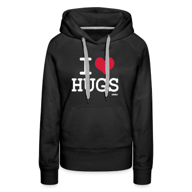 Black i love hugs by wam Jumpers