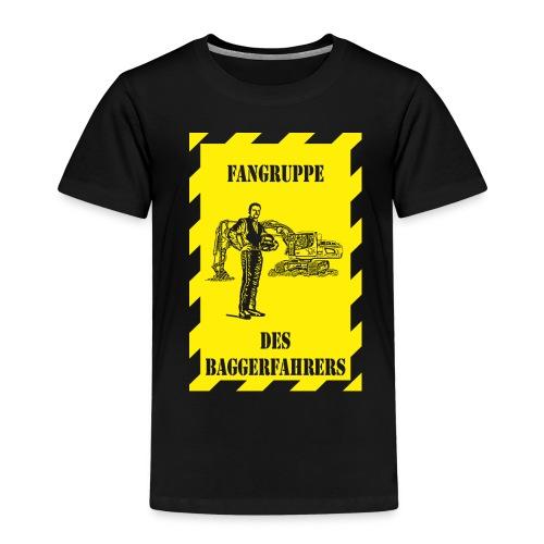 Kinder-T-Shirt Fangruppe des Baggerfahrers, schwarz - Kinder Premium T-Shirt