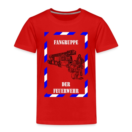 Kinder-T-Shirt Fangruppe der Feuerwehr, rot - Kinder Premium T-Shirt