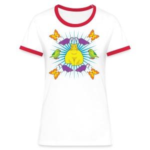 Kattguden - Kontrast-T-shirt dam