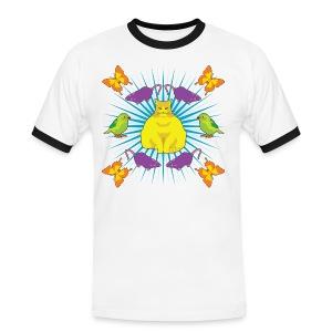 Kattguden - Kontrast-T-shirt herr