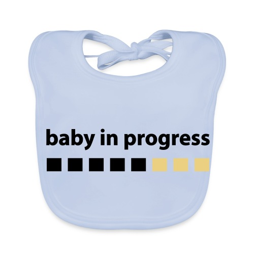 babero azul - Babero ecológico bebé