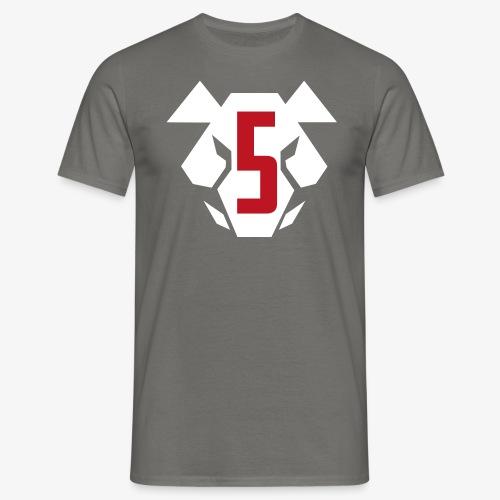 Sotakarjut - Erikoisosasto 5 - Hog's Head - logo (valkoinen) - Miesten t-paita
