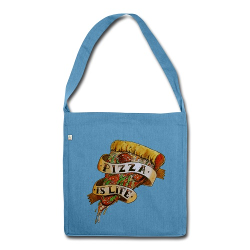 Pizza Is Life - Borsa in materiale riciclato