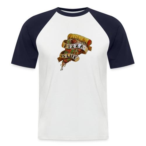 Pizza Is Life - Maglia da baseball a manica corta da uomo