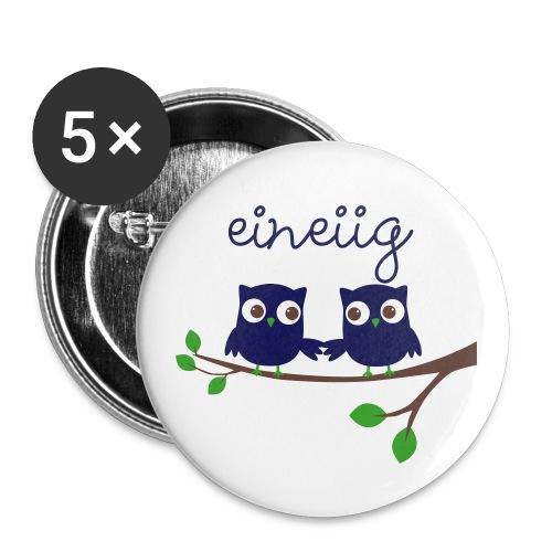 BUTTON eineiige Zwillinge - Buttons groß 56 mm (5er Pack)