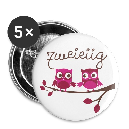 BUTTON zweieiige Zwillinge  - Buttons groß 56 mm (5er Pack)