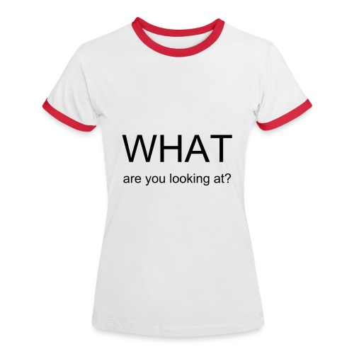 What are you looking at? - T-shirt contrasté Femme