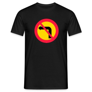 Förbjuden vänstersväng - T-shirt herr