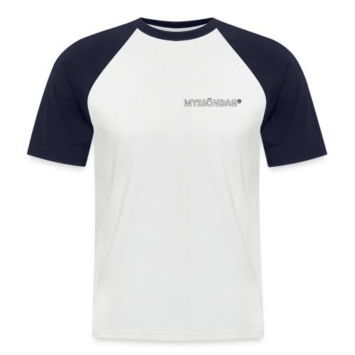 Myssöndag tvåfärgad T-shirt - Kortärmad basebolltröja herr