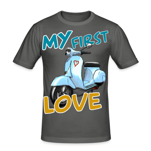 My First Love blue - Männer Slim Fit T-Shirt