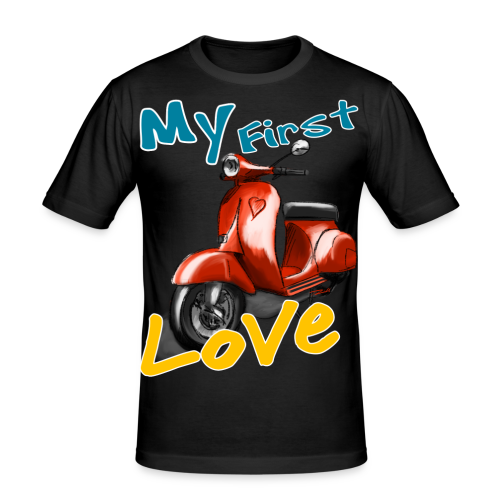 My First Love red - Männer Slim Fit T-Shirt