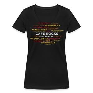 Legendary Rock Clubs (Ladies) - Vrouwen bio T-shirt met V-hals van Stanley & Stella
