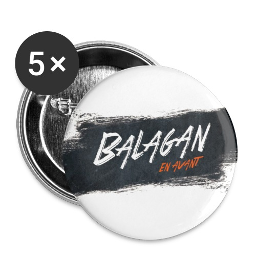 Balagan, badge/button, 56mm - Buttons large 2.2''/56 mm(5-pack)