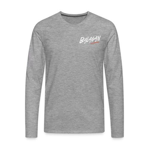 Balagan, Grey T-shirt, long sleeves, logo, Guyz - Men's Premium Longsleeve Shirt