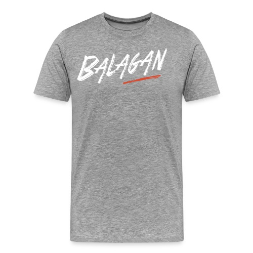 Balagan, Gray T-shirt, logo, Guyz - Men's Premium T-Shirt