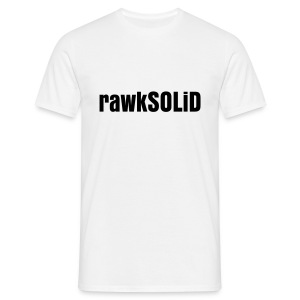 rawkSOLiD White Men's Tee - Men's T-Shirt