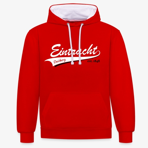 Baseball Style PREMIUM Hoodie - RED - Kontrast-Hoodie