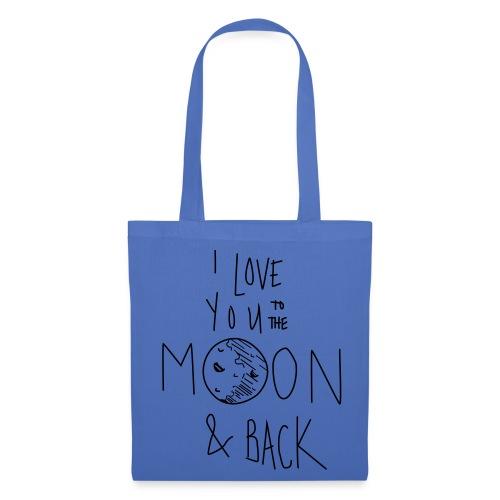 Liebe bis zum Mond... - Stoffbeutel