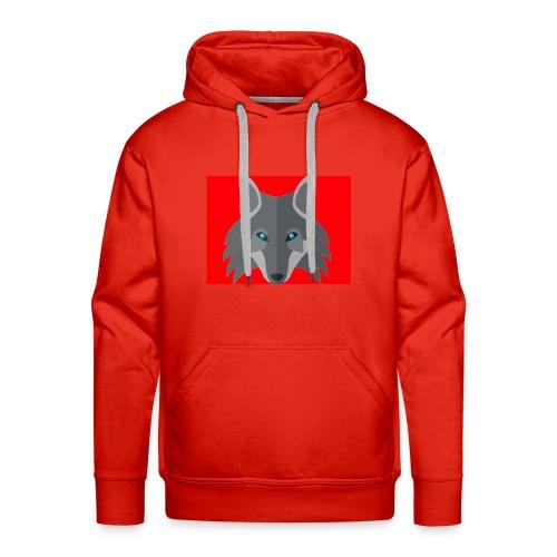 Men Red Wolf Channel Hoodie - Men's Premium Hoodie