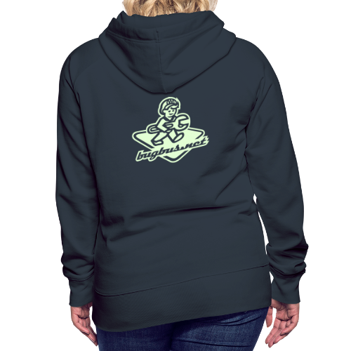 female HOODIE – Glowing in Dark – FRONT & BACK PRINT - Women's Premium Hoodie