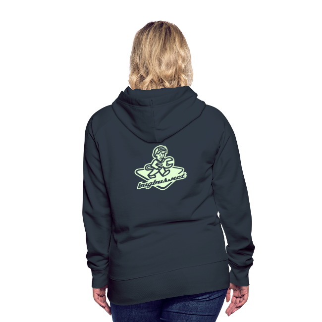 female HOODIE – Glowing in Dark – FRONT & BACK PRINT