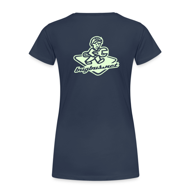 female T'SHRIT – Glowing in Dark – FRONT & BACK PRINT