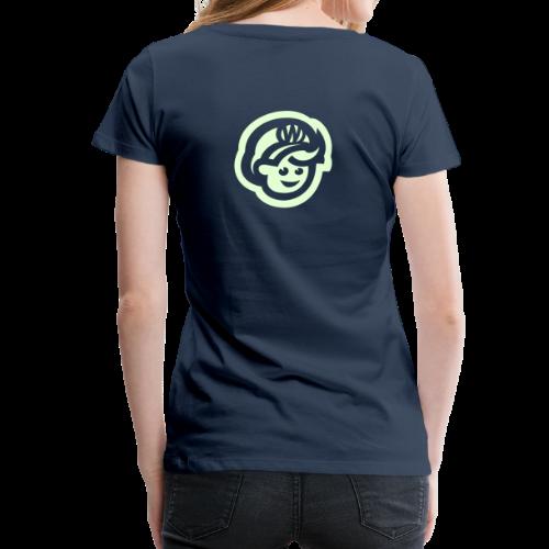 female T'SHRIT – Glowing in Dark – FRONT & BACK PRINT - Frauen Premium T-Shirt