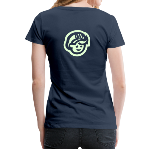 female T'SHRIT – Glowing in Dark – FRONT & BACK PRINT - Women's Premium T-Shirt