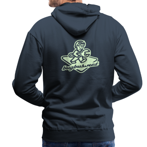 male  HOODIE – Glowing in Dark – FRONT & BACK PRINT - Men's Premium Hoodie