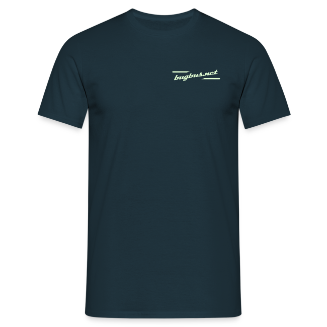 male  T'SHIRT – Glowing in Dark – FRONT & BACK PRINT