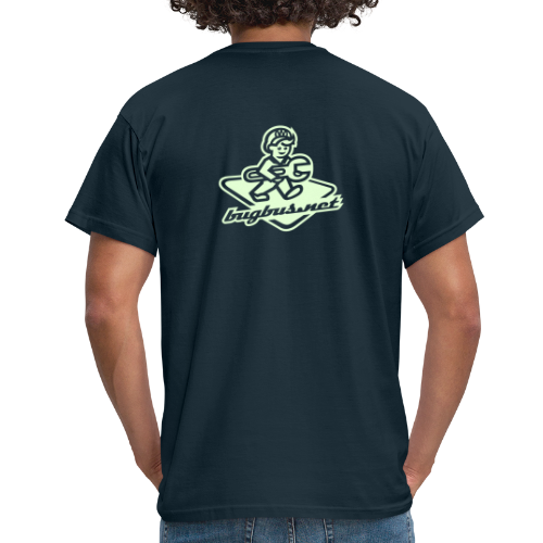 male  T'SHIRT – Glowing in Dark – FRONT & BACK PRINT - Men's T-Shirt