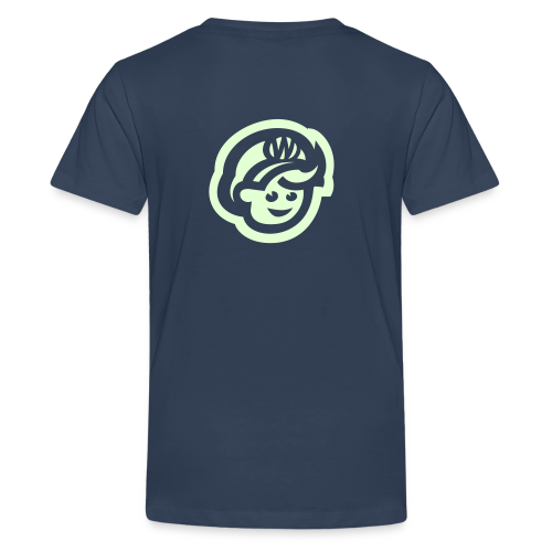 teen  T'SHIRT – Glowing in Dark – FRONT & BACK PRINT - Teenager Premium T-Shirt