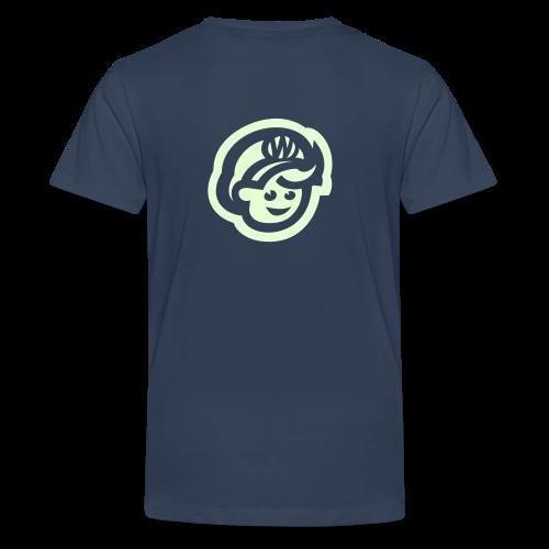 teen  T'SHIRT – Glowing in Dark – FRONT & BACK PRINT - Teenage Premium T-Shirt