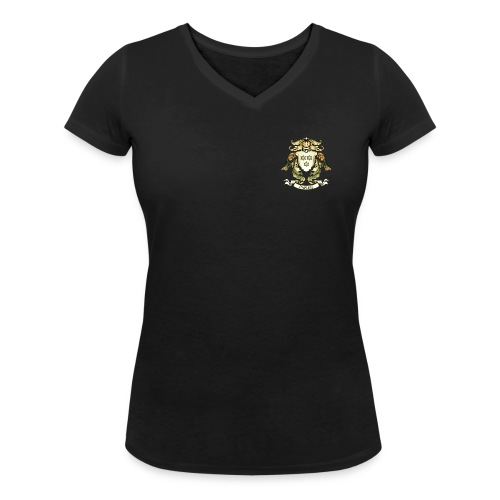 Christian Paping wapen klein vrouwen - Vrouwen bio T-shirt met V-hals van Stanley & Stella