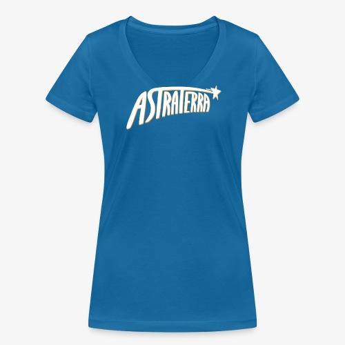 Astraterra - Logo - V-kaula-aukko - Stanley & Stellan naisten v-aukkoinen luomu-T-paita
