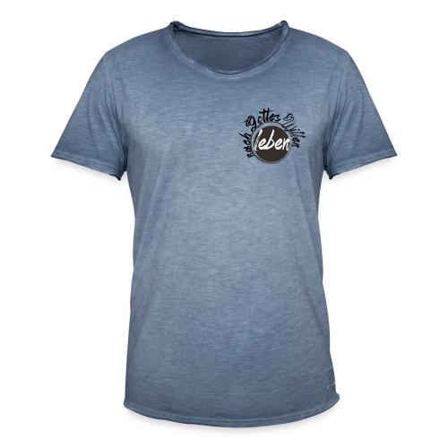 nach Gottes Willen leben - Männer Vintage T-Shirt