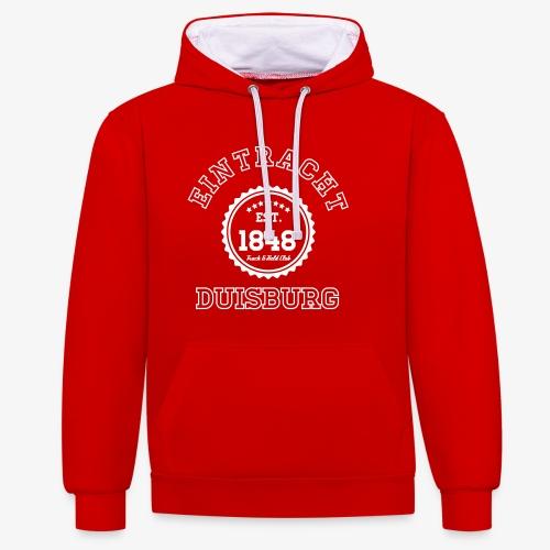 Track & Field PREMIUM Hoodie - RED - Kontrast-Hoodie