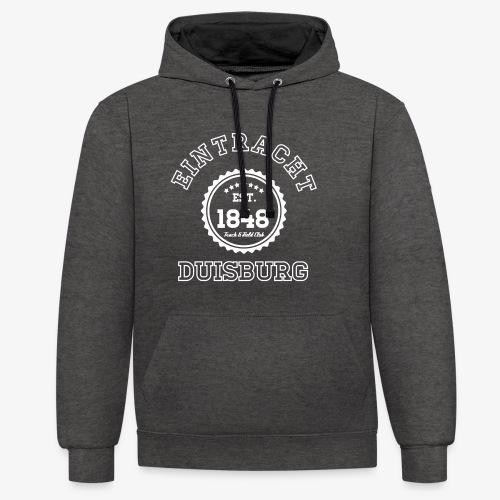 Track & Field PREMIUM Hoodie - GREY - Kontrast-Hoodie
