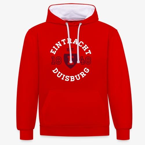 College Circle PREMIUM Hoodie - RED - Kontrast-Hoodie